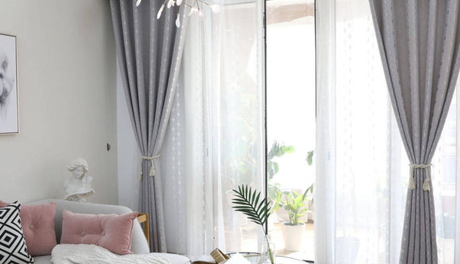 Brown White Living Room Curtains Curtain Ideas For Bay Inside Luxury Light Filtering Straight Curtain Valances (View 34 of 47)