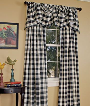 Buffalo Check Curtains :) Paula Has Green Ones. (View 8 of 50)