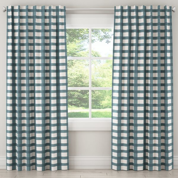 Buffalo Plaid Curtains | Wayfair Regarding Cotton Blend Classic Checkered Decorative Window Curtains (View 6 of 30)