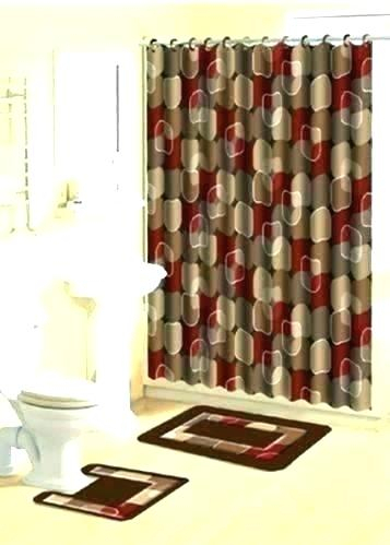 Burgundy Bathroom Decor Throughout Kitchen Burgundy/white Curtain Sets (#9 of 50)