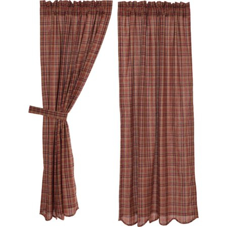 Burgundy Red Rustic & Lodge Curtains Collin Rod Pocket Inside Burgundy Cotton Blend Classic Checkered Decorative Window Curtains (View 8 of 30)
