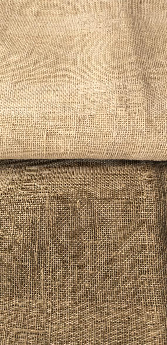 Burlap Striped Linen Cafe Curtains / Custom Linen Curtains / Plain Sheer  Linen Curtains With Rod Pocket / Farmhouse Curtainsluxoteks With Linen Stripe Rod Pocket Sheer Kitchen Tier Sets (#7 of 46)