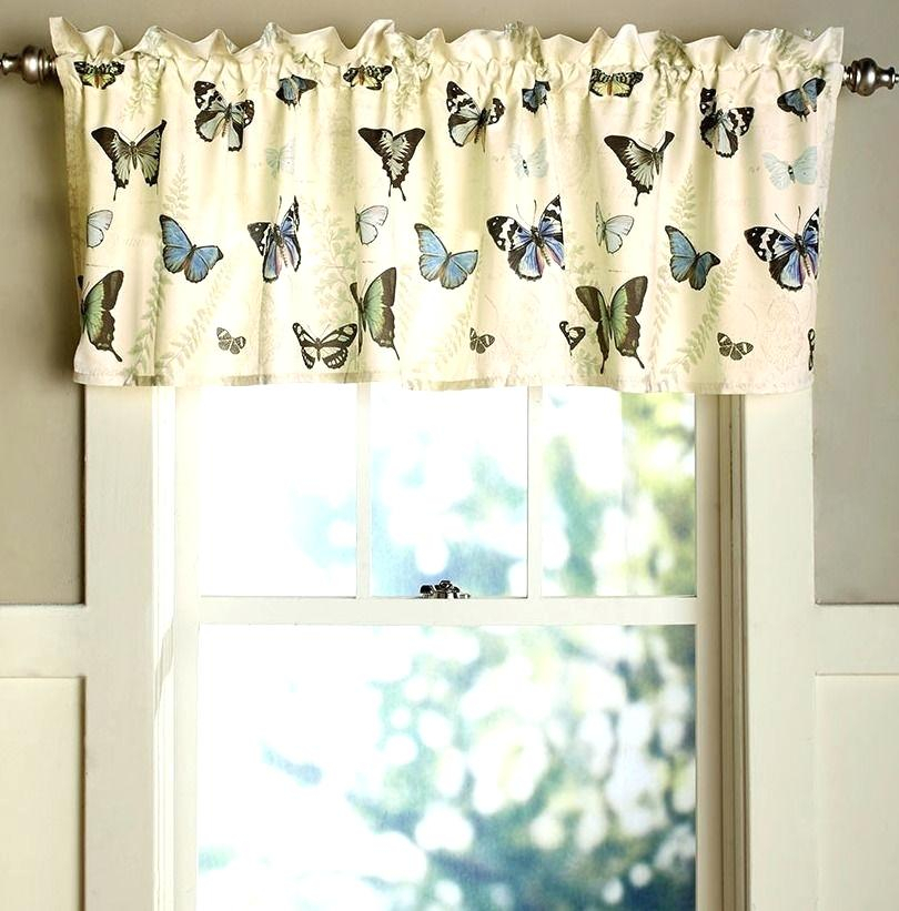 Butterfly Kitchen Curtains Home Roman Cheap Blue Print In Fluttering Butterfly White Embroidered Tier, Swag, Or Valance Kitchen Curtains (View 3 of 50)
