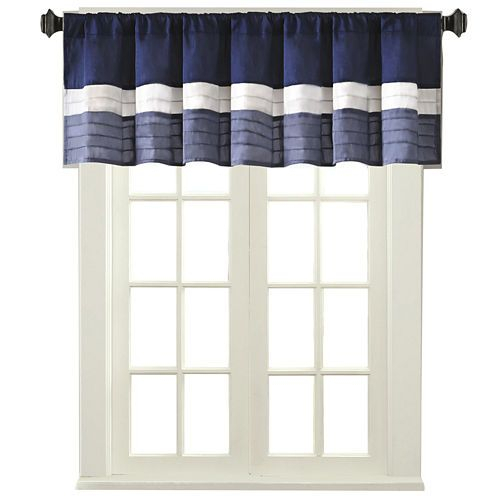 Buy Amador Polyoni Pintuck Striped Rod Pocket Valance Today For Hudson Pintuck Window Curtain Valances (View 3 of 30)