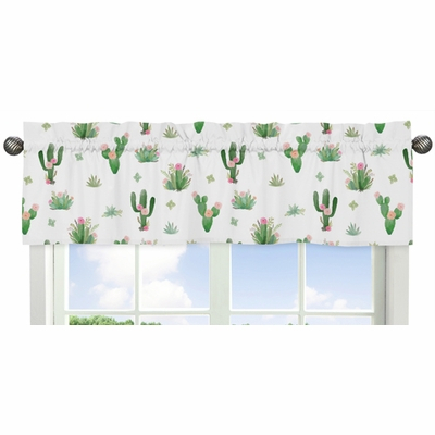 Cactus Floral Collection Window Valance Intended For Floral Pattern Window Valances (View 6 of 50)