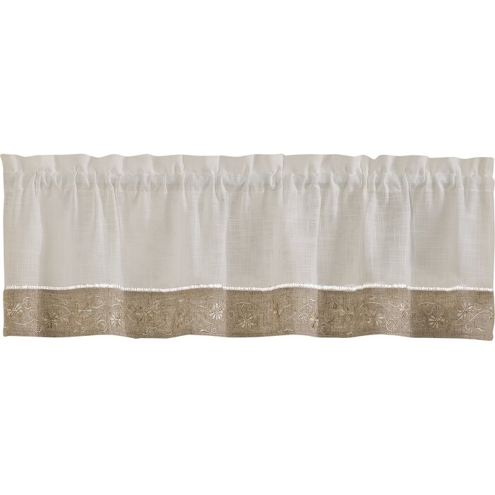 """Carnegie 58"""" Curtain Valance With White Tone On Tone Raised Microcheck Semisheer Window Curtain Pieces (#17 of 46)"""