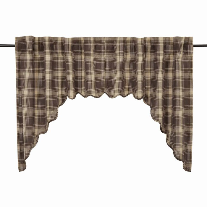 """Castlekeep 36"""" Curtain Valance With Regard To Check Scalloped Swag Sets (View 11 of 30)"""