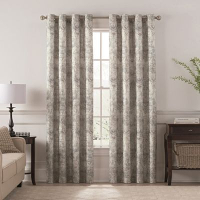 "Chantal Printed 108"" Grommet Room Darkening Window Curtain Pertaining To Pastel Damask Printed Room Darkening Kitchen Tiers (#9 of 50)"