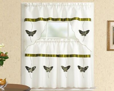 Chardonnay Kitchen Curtain With Swag And Tier Set 36 In Inside Chardonnay Tier And Swag Kitchen Curtain Sets (View 12 of 50)