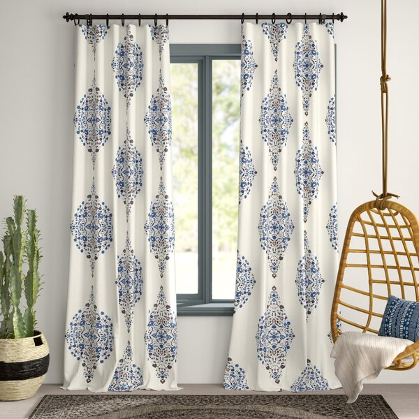 Charleston Curtains | Wayfair For Pastel Damask Printed Room Darkening Kitchen Tiers (#10 of 50)