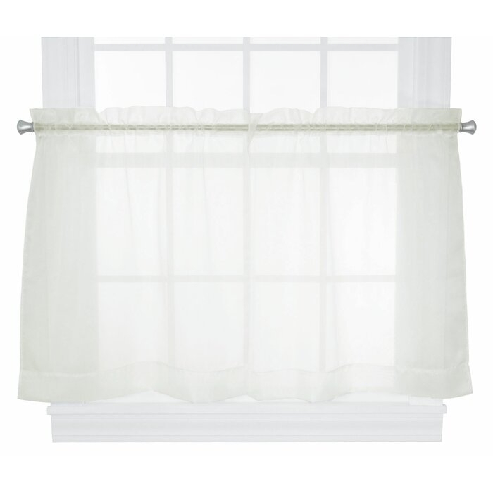 "Chaston 54"" Tailored Tier Curtain Valance With Regard To Tailored Valance And Tier Curtains (#7 of 50)"