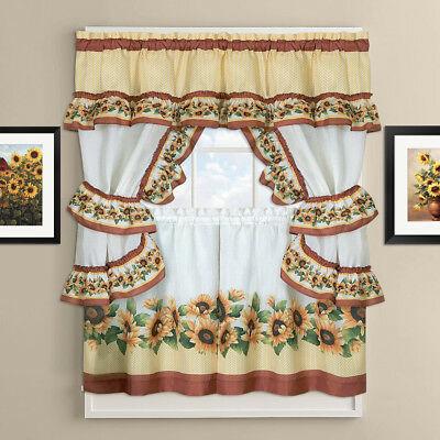"Chateau Kitchen Curtain Cottage Set 24""l X 56""w – $ (View 8 of 30)"