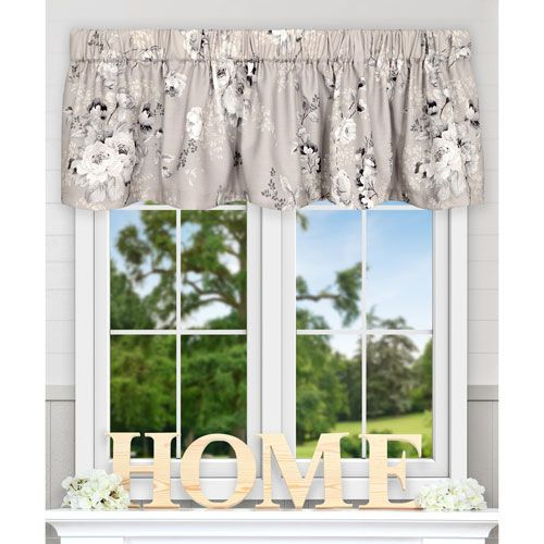 Chatsworth Grey 70 X 15 Inch Tailored Valance   Valance Throughout Tailored Valance And Tier Curtains (View 8 of 50)