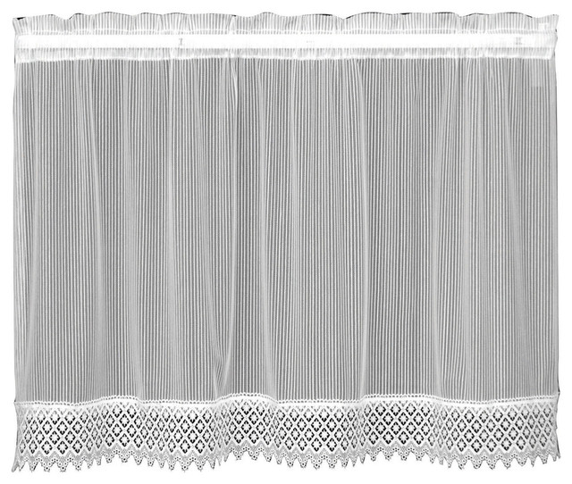 """Chelsea Tier, White, 36"""" Regarding Classic Black And White Curtain Tiers (View 11 of 50)"""