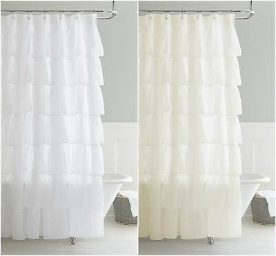 Chezmoi Collection Crushed Voile Sheer Shabby Chic Ruffle With Elegant Crushed Voile Ruffle Window Curtain Pieces (View 14 of 45)