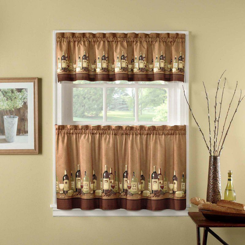 Chf Industries Wines Kitchen Curtain Set – 1Z46760Ymu With Regard To Coffee Drinks Embroidered Window Valances And Tiers (View 11 of 45)
