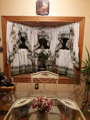Chf & You Cottage Ivy Kitchen Curtains Tiers Intended For Cottage Ivy Curtain Tiers (#15 of 49)