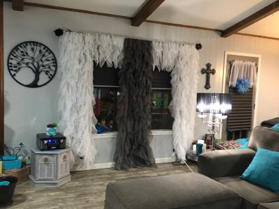 Chic Sheer Voile Vertical Ruffled Tier Window Curtain Panel Pertaining To Maize Vertical Ruffled Waterfall Valance And Curtain Tiers (View 25 of 30)