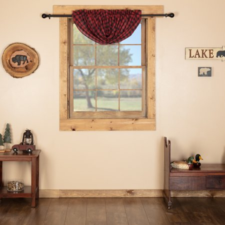 Chili Pepper Red Rustic Kitchen Curtains Shasta Cabin Rod Inside Red Rustic Kitchen Curtains (#9 of 30)