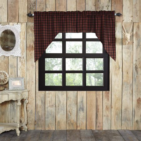Chili Pepper Red Rustic & Lodge Kitchen Curtains Shasta Intended For Red Rustic Kitchen Curtains (#8 of 30)