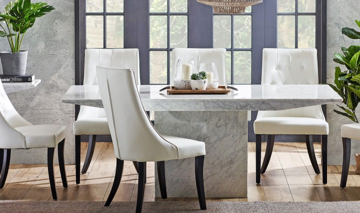 Christie Round Marble Dining Tables Pertaining To Fashionable Marble Look Dining Table (#9 of 20)