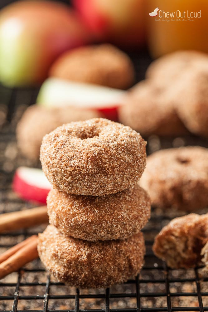 Cinnamon Apple Baked Donuts – Chew Out Loud With Apple Orchard Printed Kitchen Tier Sets (View 17 of 50)