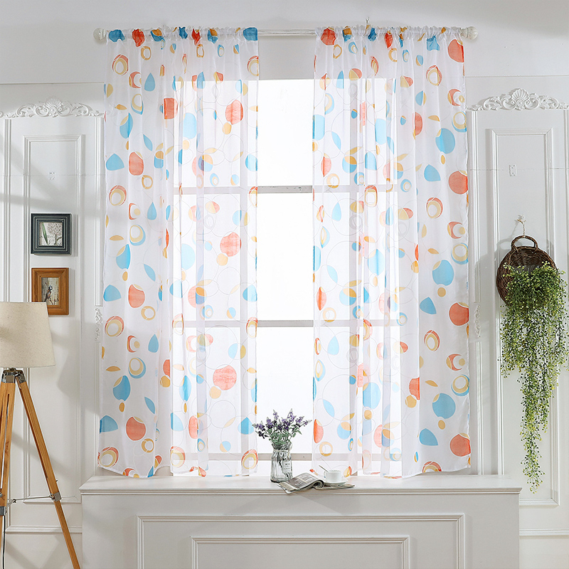 Circle Sheer Curtain Window Treatment Voile Drape Valance With Regard To Circle Curtain Valances (View 8 of 30)