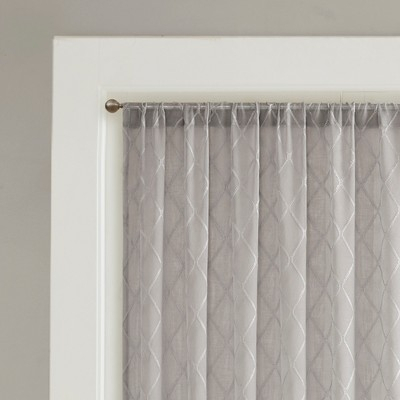 Clarissa Diamond Sheer Window Curtain Gray 100X84 Pertaining To Dove Gray Curtain Tier Pairs (View 8 of 30)