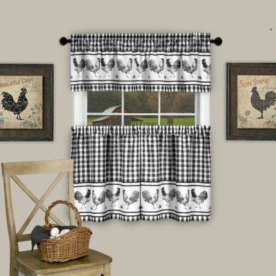 Classic – Animal Print – Curtains & Drapes – Window In Classic Black And White Curtain Tiers (View 12 of 50)