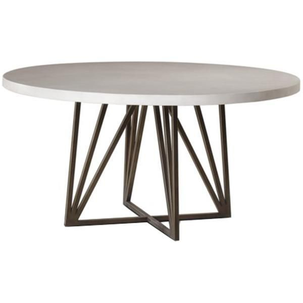 Cleary Oval Dining Pedestal Tables Inside 2019 Maison 55 Emerson Xlarge Dining Table – Round (#2 of 20)