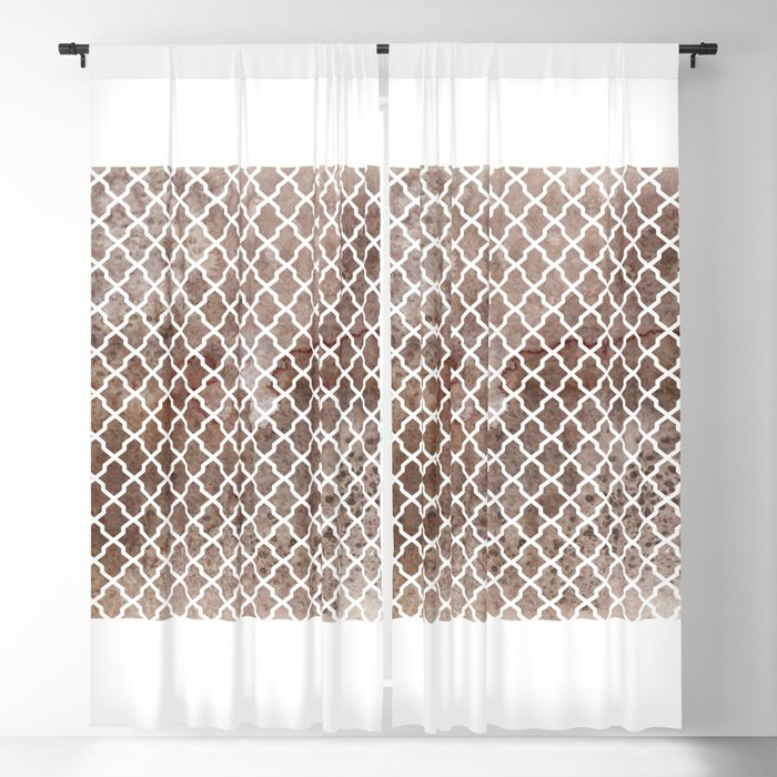 Coffee Trellis Pattern Blackout Curtainthejessachannel Within Trellis Pattern Window Valances (#5 of 30)