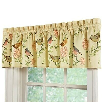 Collections Etc Springtime Birds And Blooms Rod Pocket With Regard To Spring Daisy Tiered Curtain 3 Piece Sets (View 9 of 30)