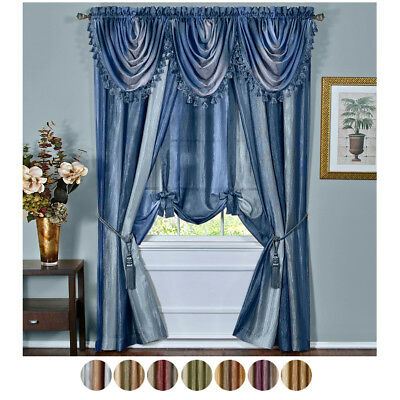 Colorful Striped Curtains Semi Shade Cloth Sheer Tulle Voile Within Micro Striped Semi Sheer Window Curtain Pieces (#7 of 30)