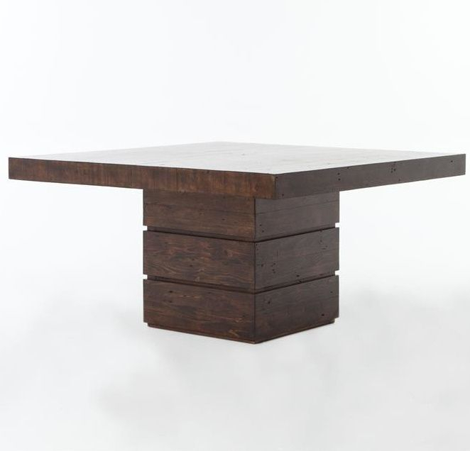 Combining The Rustic Charm Of Natural Wood With Contemporary For Widely Used Menlo Reclaimed Wood Extending Dining Tables (#6 of 30)