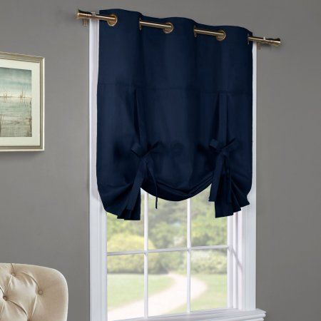Commonwealth Thermalogic Weathermate Tie Up Curtain Panel For Flinders Forge 24 Inch Tier Pairs In Navy (View 9 of 30)