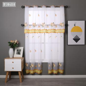 Compare Ochine 50150Cm Wear Rod Daisy Embroidery Short With Embroidered Ladybugs Window Curtain Pieces (View 7 of 50)