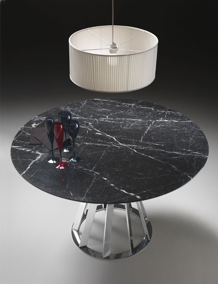 Contemporary Table / Marble / Round / Oval Raystefano Betlio Klab Design Regarding Latest Rae Round Marble Bistro Tables (#3 of 20)