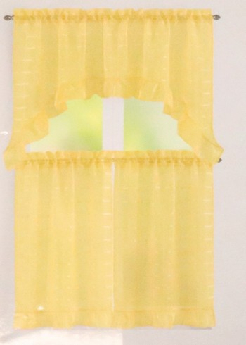 Cook Brothers For Bermuda Ruffle Kitchen Curtain Tier Sets (View 11 of 50)