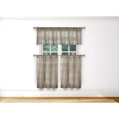 Cotton/polyester – Brown – Curtains & Drapes – Window In Cotton Blend Grey Kitchen Curtain Tiers (View 12 of 47)