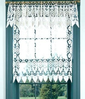 Country Curtains Lace Valance – Socialwear Inside Country Style Curtain Parts With White Daisy Lace Accent (View 8 of 50)