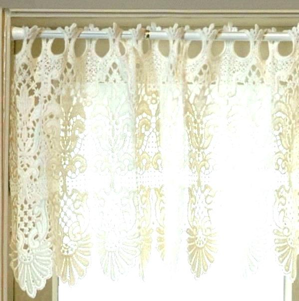 Country Curtains Lace Valance – Socialwear Inside French Vanilla Country Style Curtain Parts With White Daisy Lace Accent (View 5 of 50)