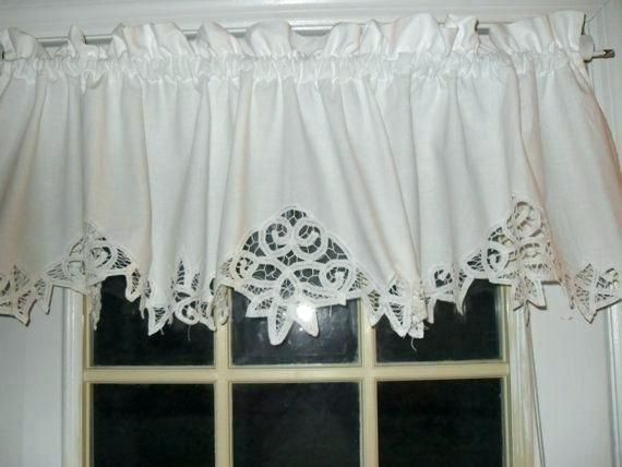 Country Curtains Lace Valance – Socialwear Pertaining To French Vanilla Country Style Curtain Parts With White Daisy Lace Accent (View 7 of 50)