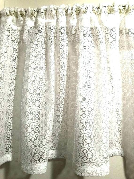 Country Curtains Lace Valance – Socialwear Pertaining To French Vanilla Country Style Curtain Parts With White Daisy Lace Accent (View 6 of 50)