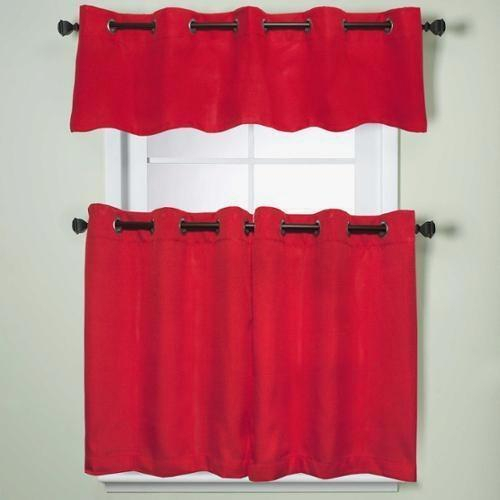 Country Red Kitchen Curtains – Camata (#8 of 50)