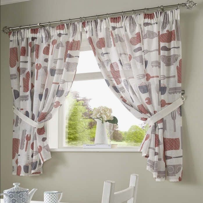 Country Red Kitchen Curtains – Camata (#9 of 50)