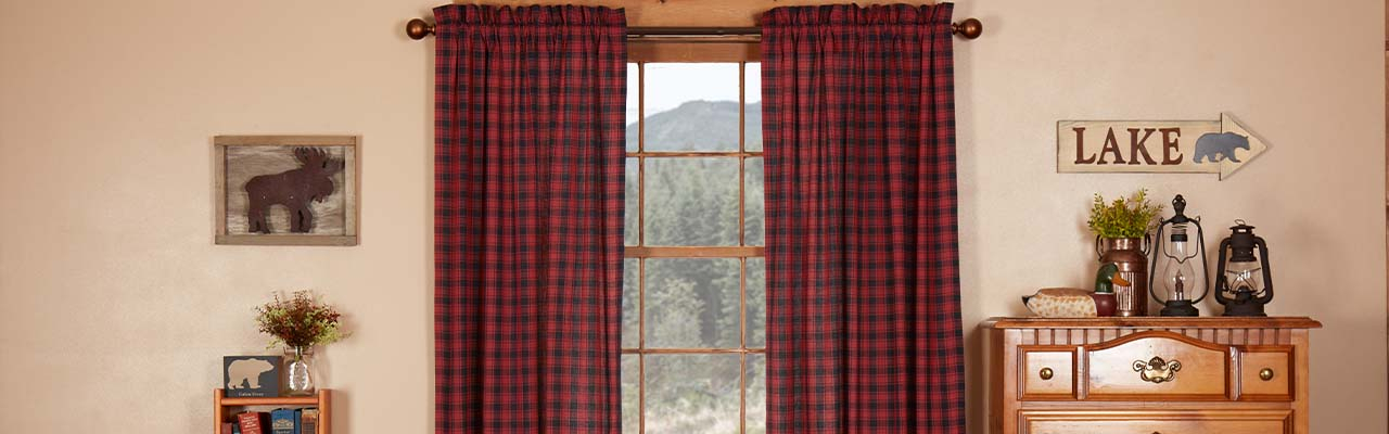 Country Themed Curtains Intended For Cumberland Tier Pair Rod Pocket Cotton Buffalo Check Kitchen Curtains (View 9 of 30)