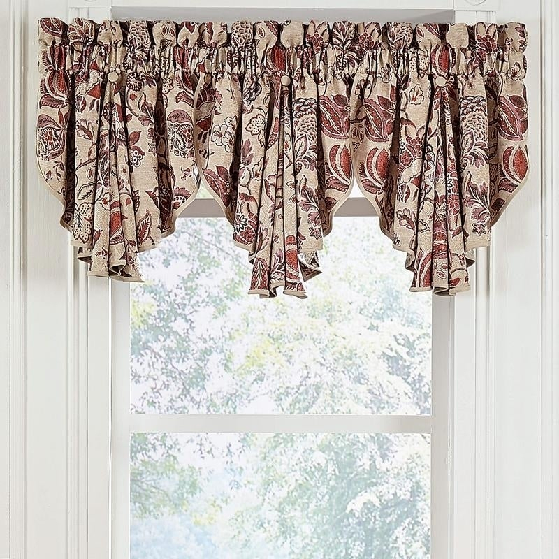 Croscill Lauryn Jacobean Circle Valance Regarding Circle Curtain Valances (View 11 of 30)