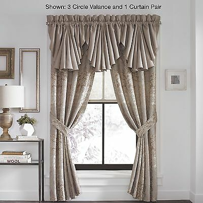 "Croscill Montrose Circle Valance 42"" W 21"" L Window Valance New 
