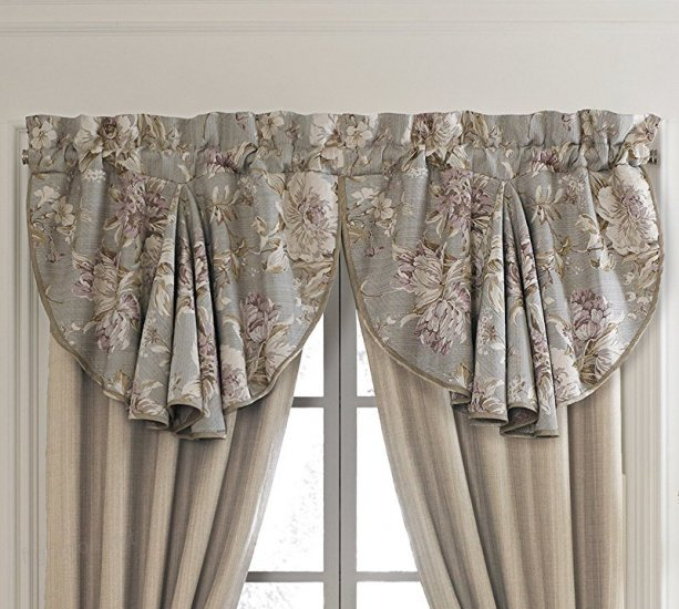 Croscill Victoria Swag Circle Window Valance, Floral Taupe With Regard To Circle Curtain Valances (View 14 of 30)