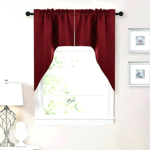 Crystal Brook Window Curtain Tier Pair And Valance In White For Modern Subtle Texture Solid Red Kitchen Curtains (#3 of 50)